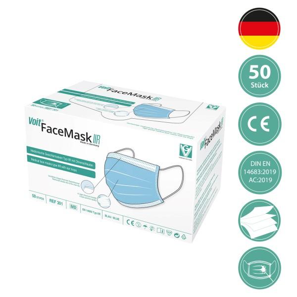 Voit FaceMaskIIR - Medizinische Gesichtsmaske Typ IIR - EN 14683 (50 Stück)