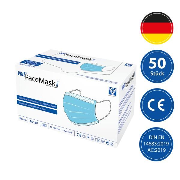 Voit FaceMaskII - Medizinische Gesichtsmaske Typ II - EN 14683 (50 Stück)